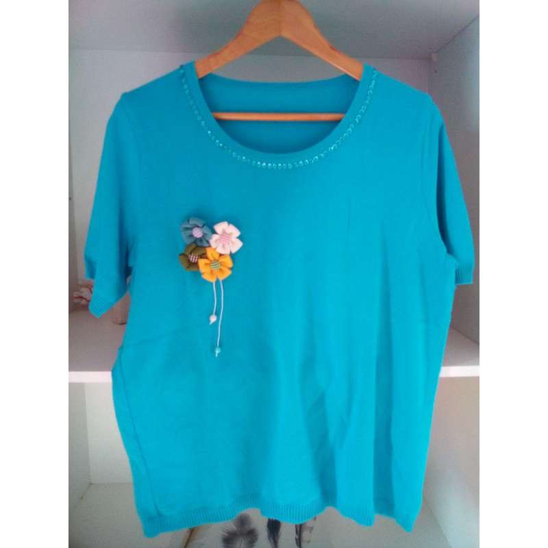 Blue Sweater Flower
