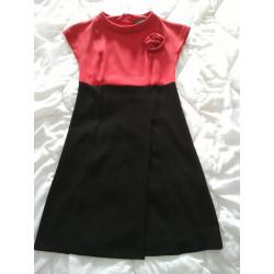 Red black dress