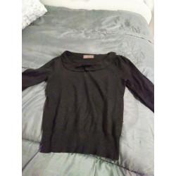 Black retro pullover