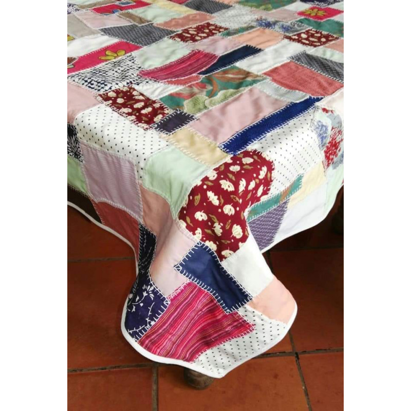 Tapete hecho a mano con Patchwork